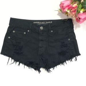 American Eagle Black Shortie Stretch Size 6